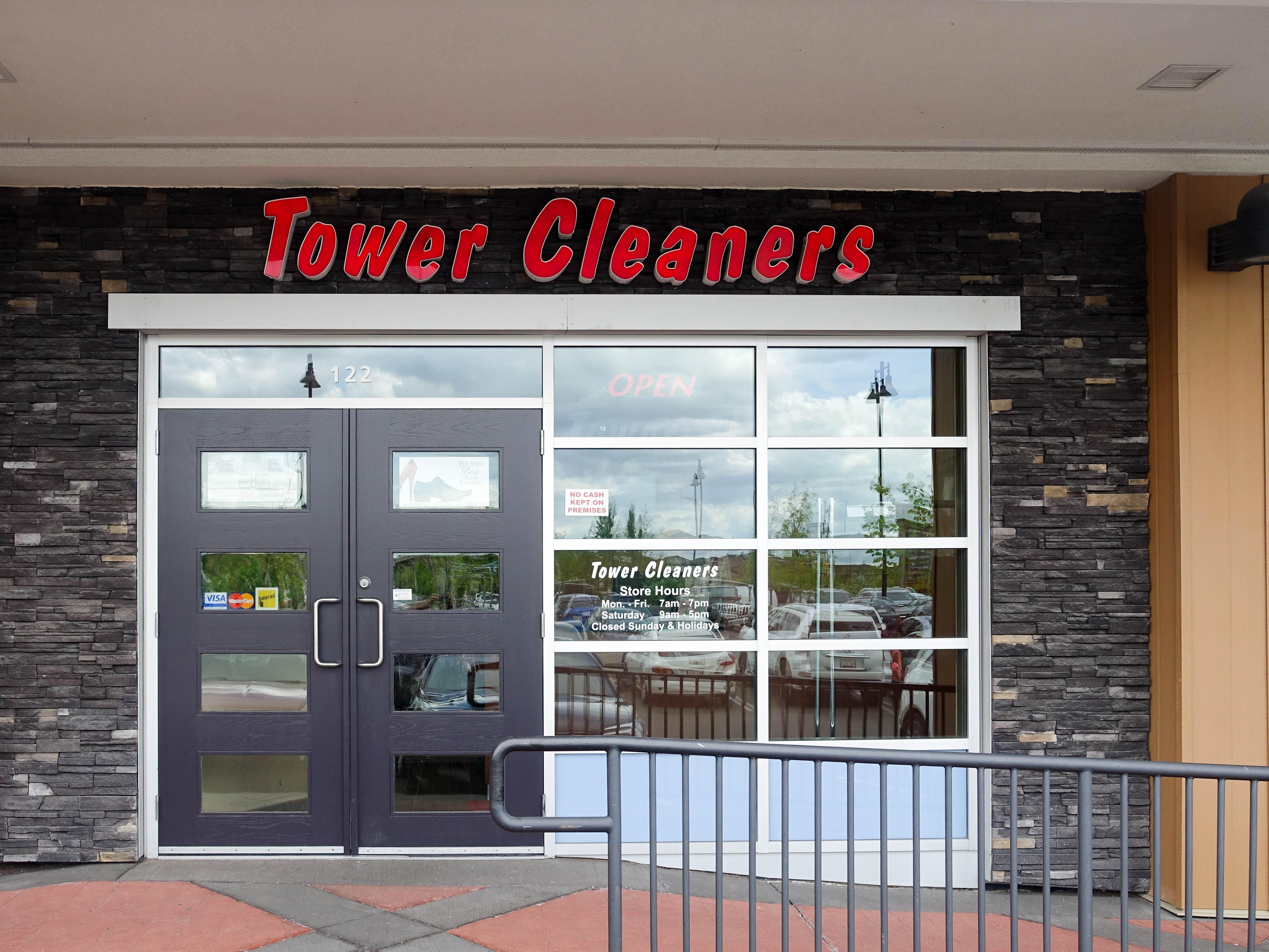 Aspen Landing Shopping Centre Tower Cleaners store. #122 - 366 Aspen Glen Landing SW , Calgary, Alberta, (403) 217-0777