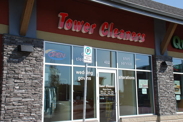 Dickson Trail Crossing Tower Cleaners store. #402, 3 Stonegate Drive, Airdrie, Alberta, (403) 912-2824