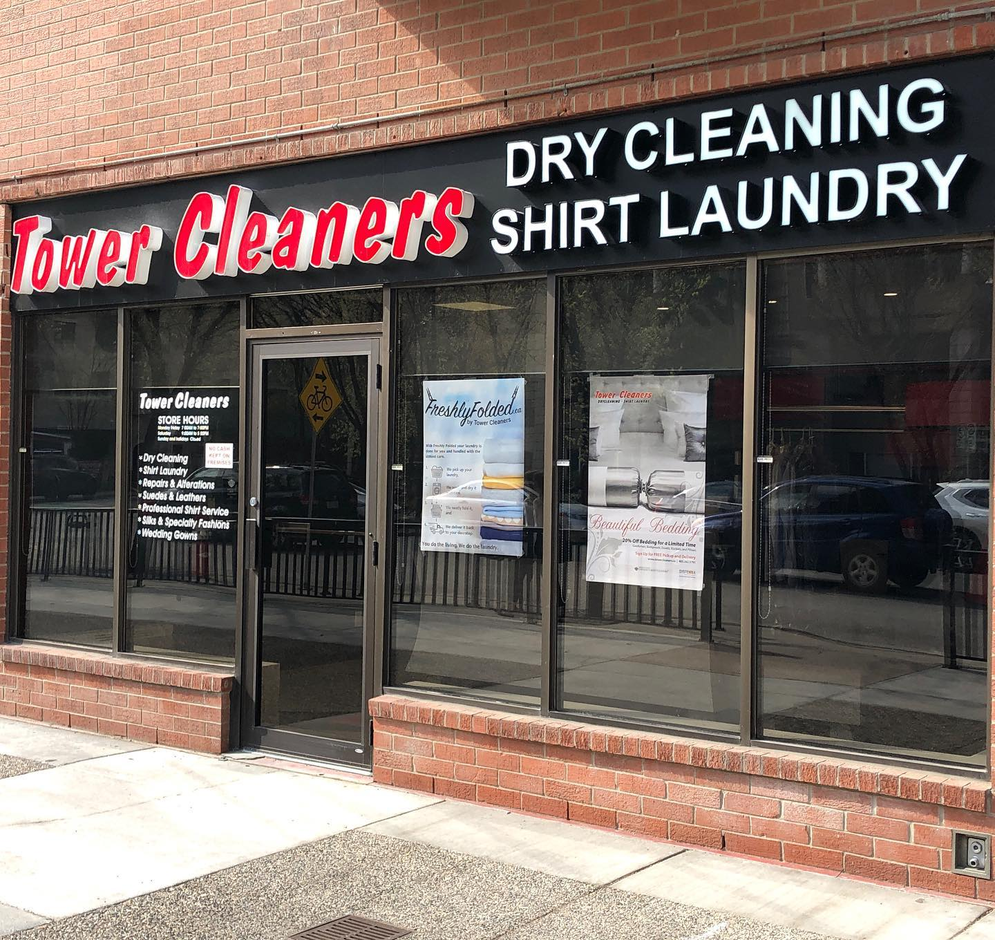 Eau Claire Tower Cleaners store. #119, 738 - 3 Ave SW, Calgary, Alberta, (403) 262-0781