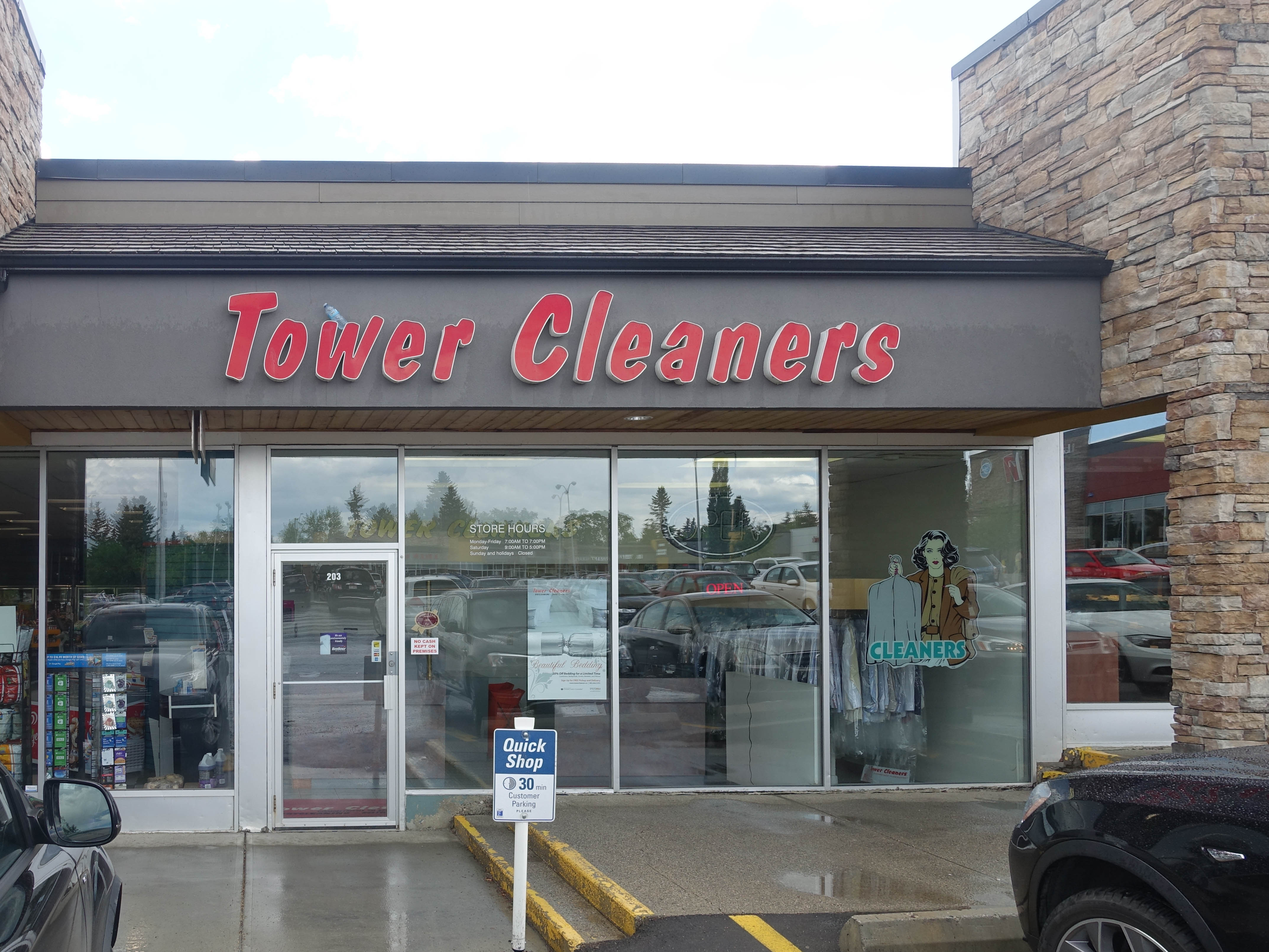 Lakeview Plaza Tower Cleaners store. #203, 6449 Crowchild Trail SW, Calgary, Alberta, (403) 217-2122